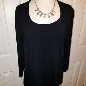 Grace XL, scoop neck, 3/4 sleeve blouse